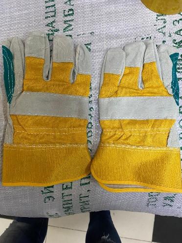 Перчатки рабочие комбинированные спилковые усиленные