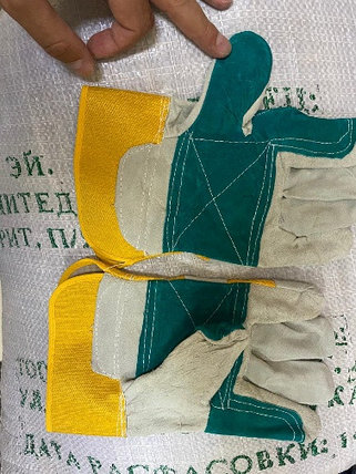 Перчатки рабочие комбинированные спилковые усиленные, фото 2
