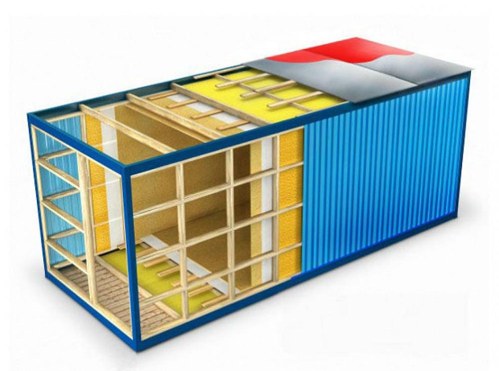 Утепленный вагон из блок-контейнеров - фото 2