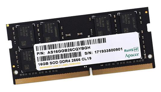Модуль памяти для ноутбука, Apacer, ES.16G2V.GNH, DDR4, 16 GB, 2666MHz