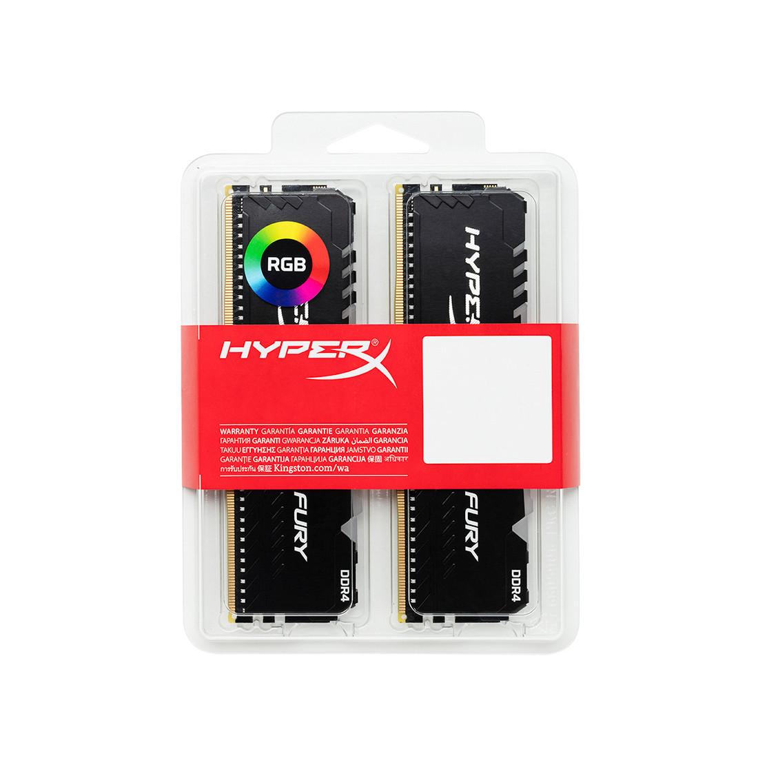 Модуль памяти Kingston HyperX Fury RGB HX432C16FB3AK2/16 DDR4 DIMM 16Gb KIT 2x8 3200 MHz