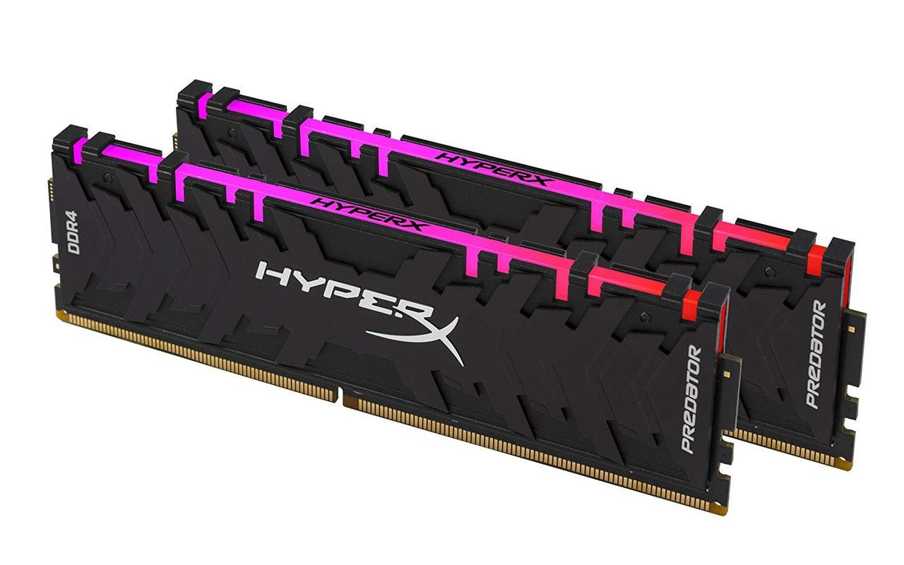 Модуль памяти Kingston HyperX Predator RGB DDR4 DIMM 32Gb KIT 2*16Gb 3200 MHz