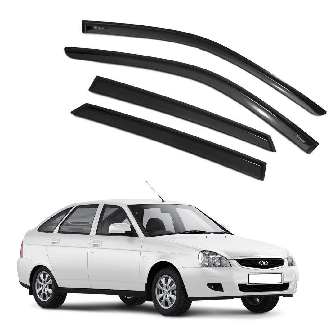Ветровики дверей (дефлекторы окон) Lada Priora седан/хэтчбек (2008-2018)