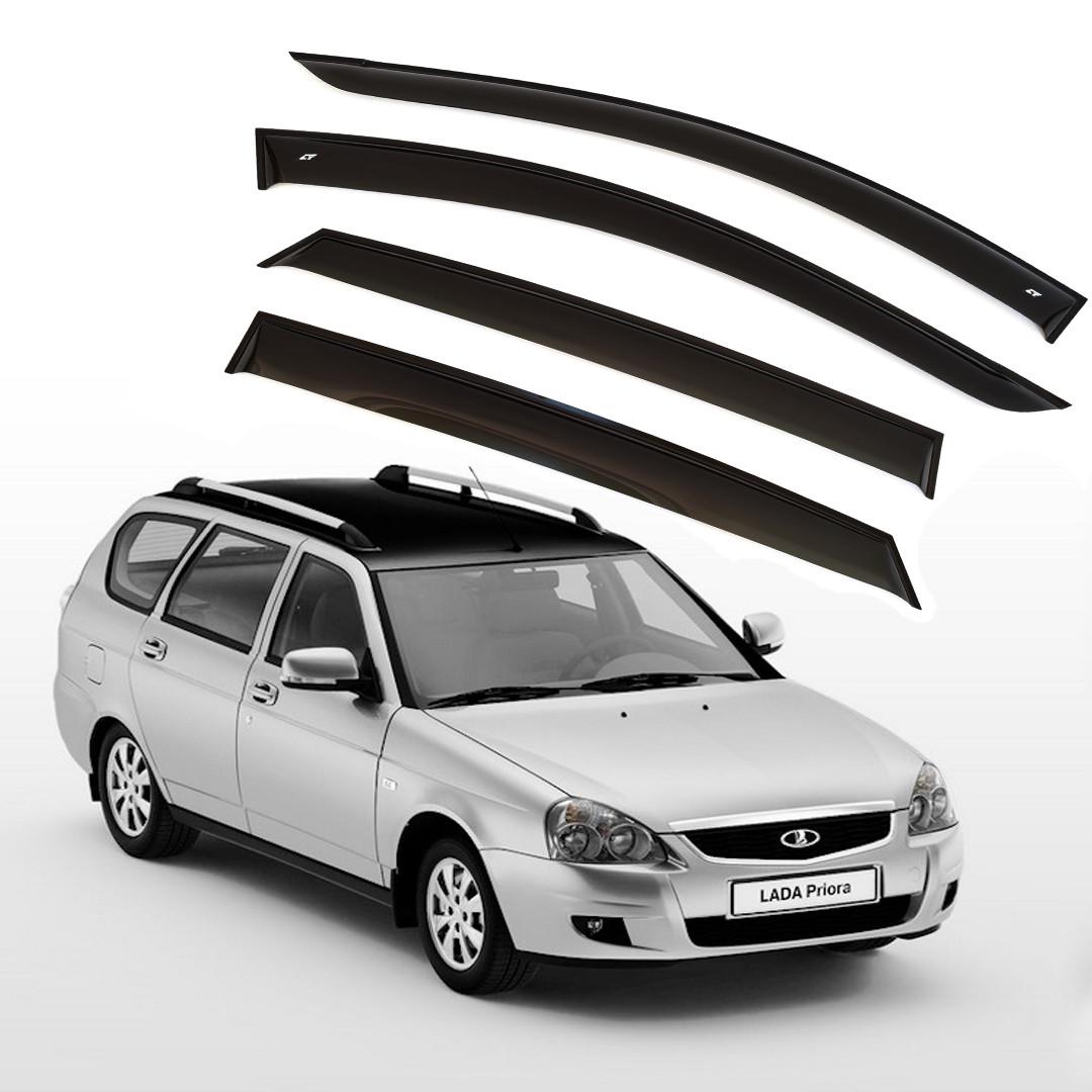 Ветровики дверей (дефлекторы окон) Lada Priora универсал (2009-)