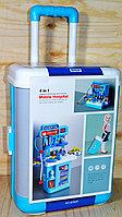 8390P Mobile Hospital 4в1 мед набор с водой в чемодане на колесах трансф. 39*24см, фото 1