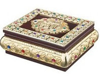 Шкатулка деревянная с инкрустацией для Корана (22 х 20 х 9 см)