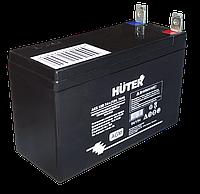 Аккумуляторная батарея АКБ 12В 7Ач Huter, фото 1