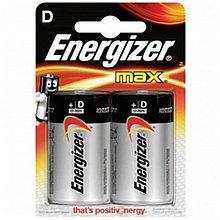 Элемент питания Energizer LR20 D MAX Alkaline 2 штуки в блистере