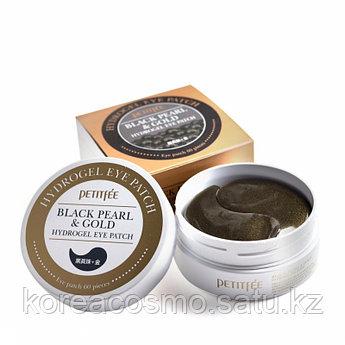 Petitfee Гидрогелевые патчи с экстрактом черного жемчуга и коллоидным золотом Black Pearl & Gold Eye Patch 60