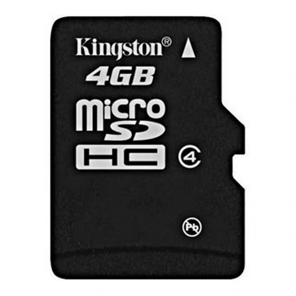 Карта памяти MicroSD 4GB Class 4 Kingston SDC4/4GBSP