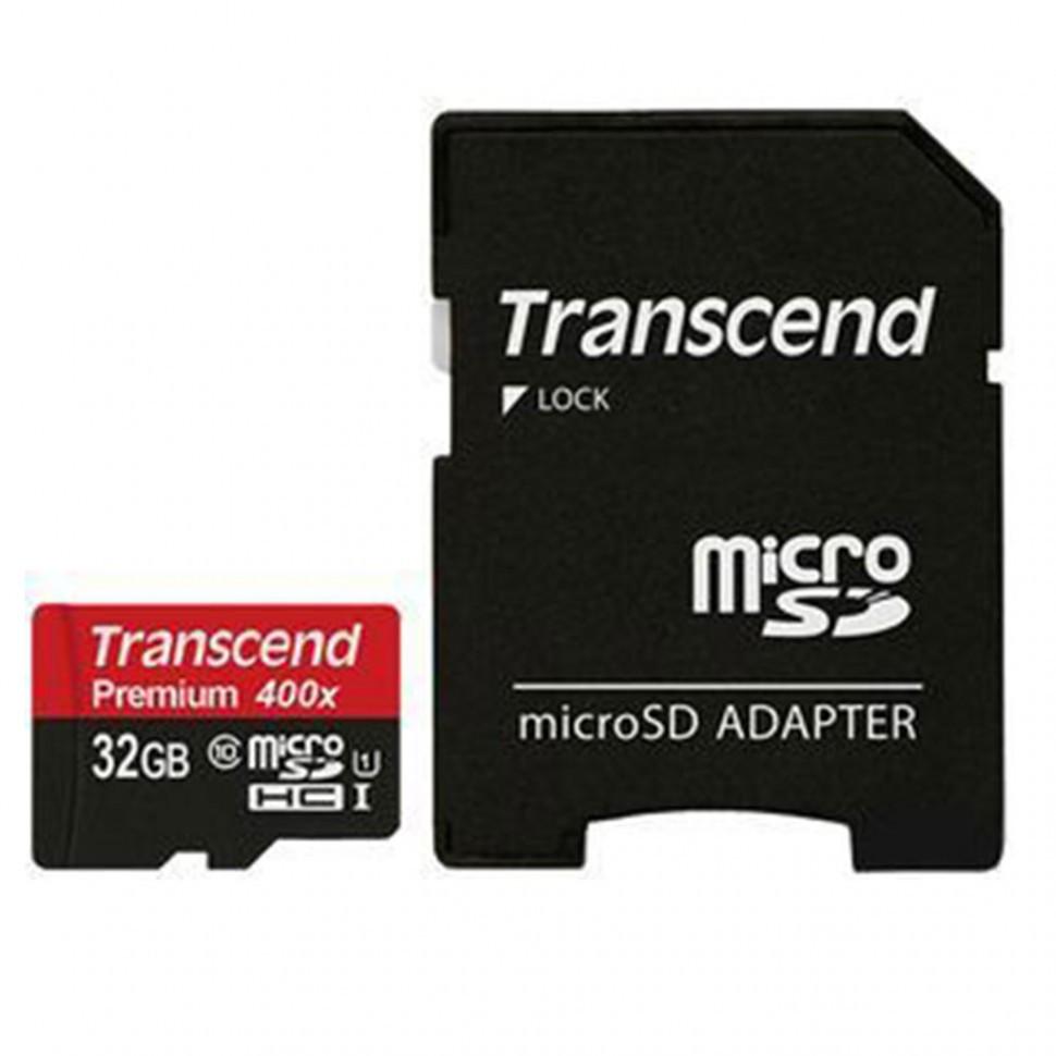Карта памяти MicroSD 32GB Class 10 U1 Transcend TS32GUSDU1
