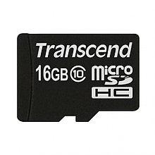 Карта памяти MicroSD 16 GB Transcend, Class 10, no adapter, TS16GUSDC10