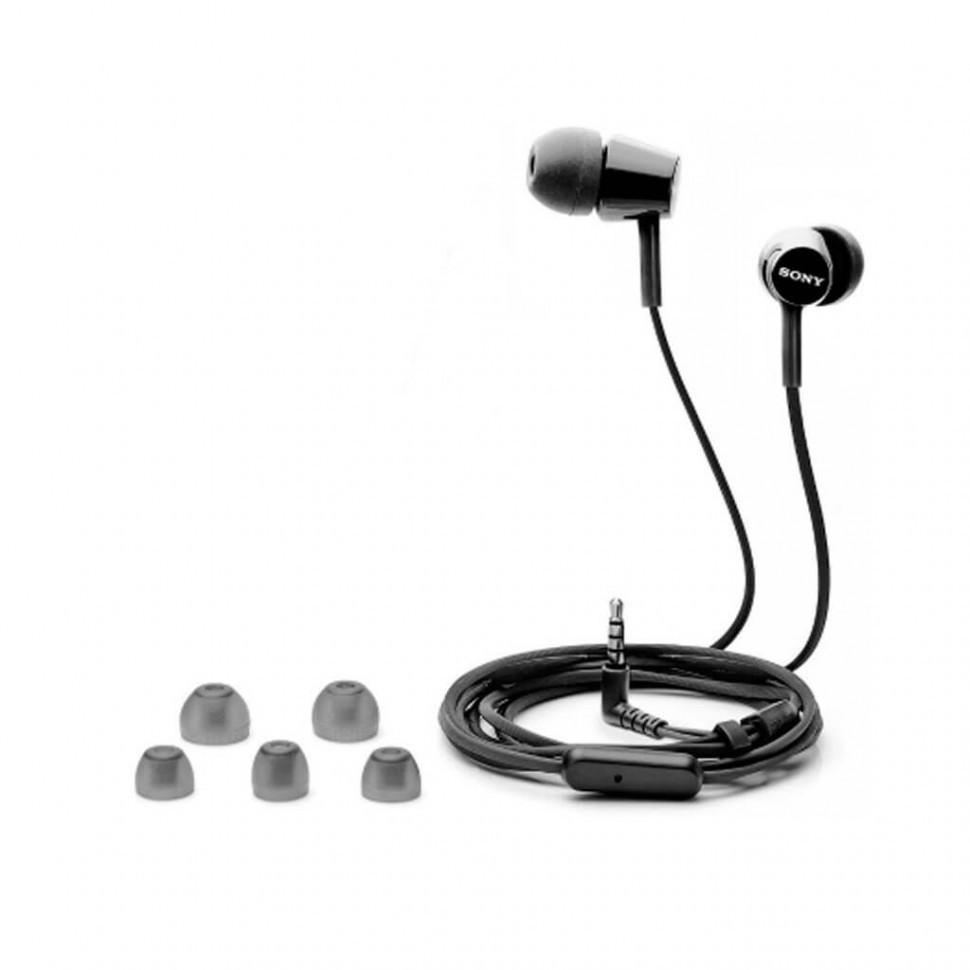Наушники-вкладыши проводные Sony MDR-EX155APB.E черный