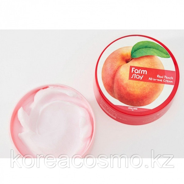 Крем для лица и тела с экстрактом персика Farmstay Real Peach all in one Cream