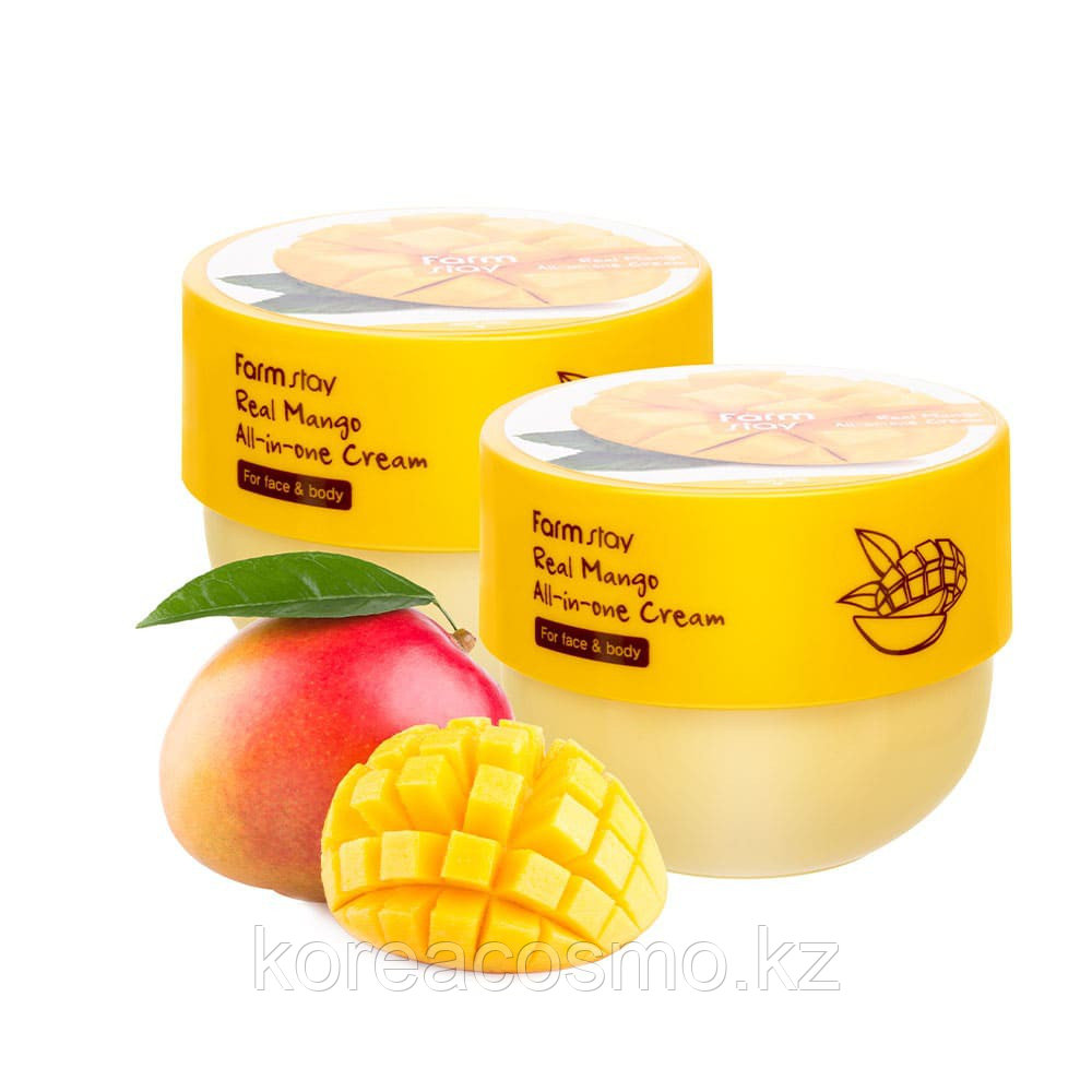 Крем для лица и тела с экстрактом манго Farmstay Mango Peach all in one Cream