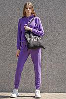 Женский осенний трикотажный фиолетовый спортивный спортивный костюм GO F3001/15-03 42р.