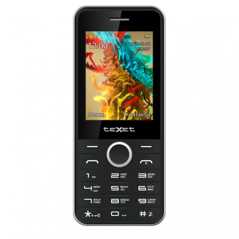 Мобильный телефон Texet TM-D301 черный-серебро