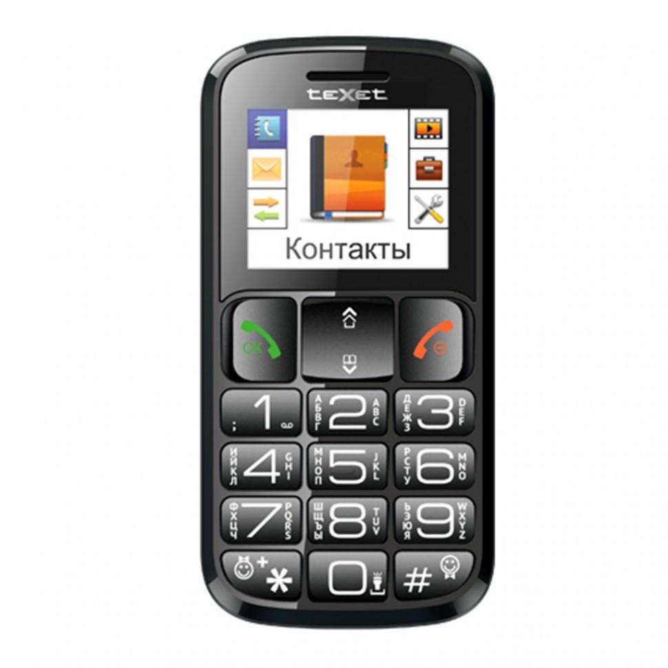 Мобильный телефон Texet TM-B114 черный