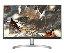 Монитор LG 27UK600-W, Black/Silver/White, 3840x2160 Ultra HD 4K IPS,  5ms, 21:9, 350cd/m2, 178°/178°,  1000: