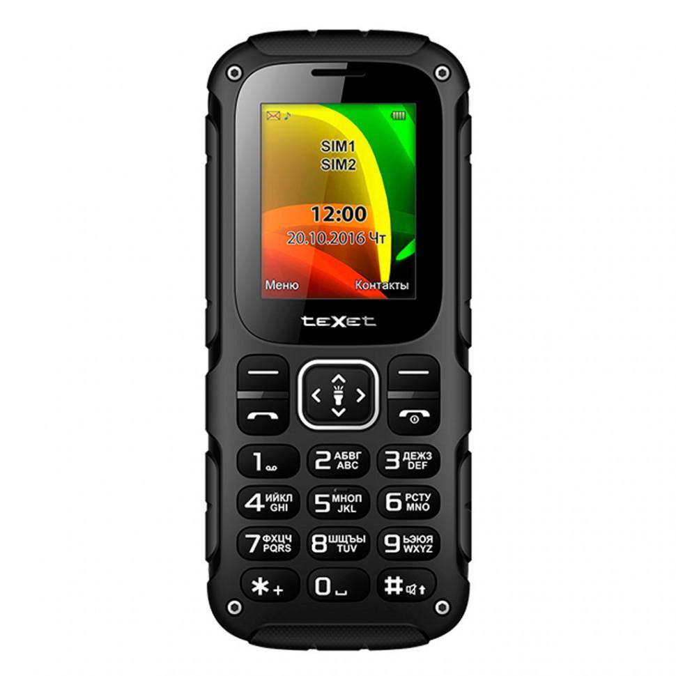 Мобильный телефон Texet TM-504R черный-зеленый