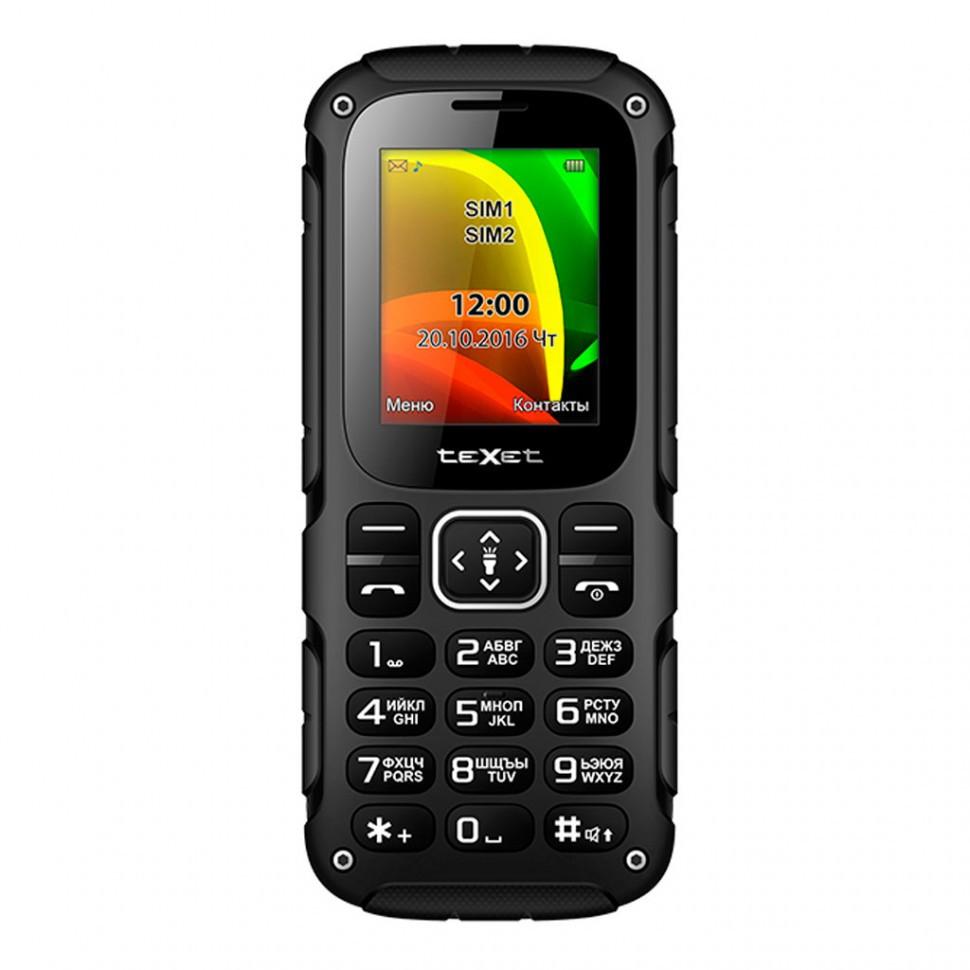 Мобильный телефон Texet TM-504R черный-красный