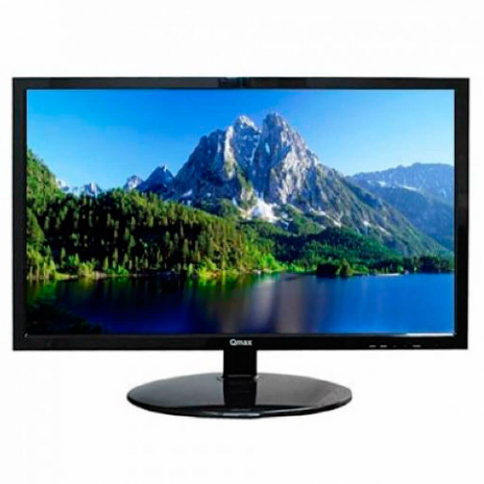 """Монитор Qmax 19.5"""" M203B, Black, 1600x900 LED, 5ms, 16:9, 250 cd/m2,  90°/65°, 5m:1, D-Sub, б/п внеш"""