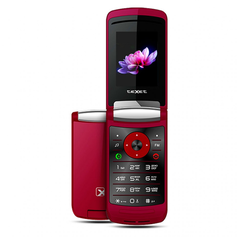 Мобильный телефон Texet TM-402 бургунди