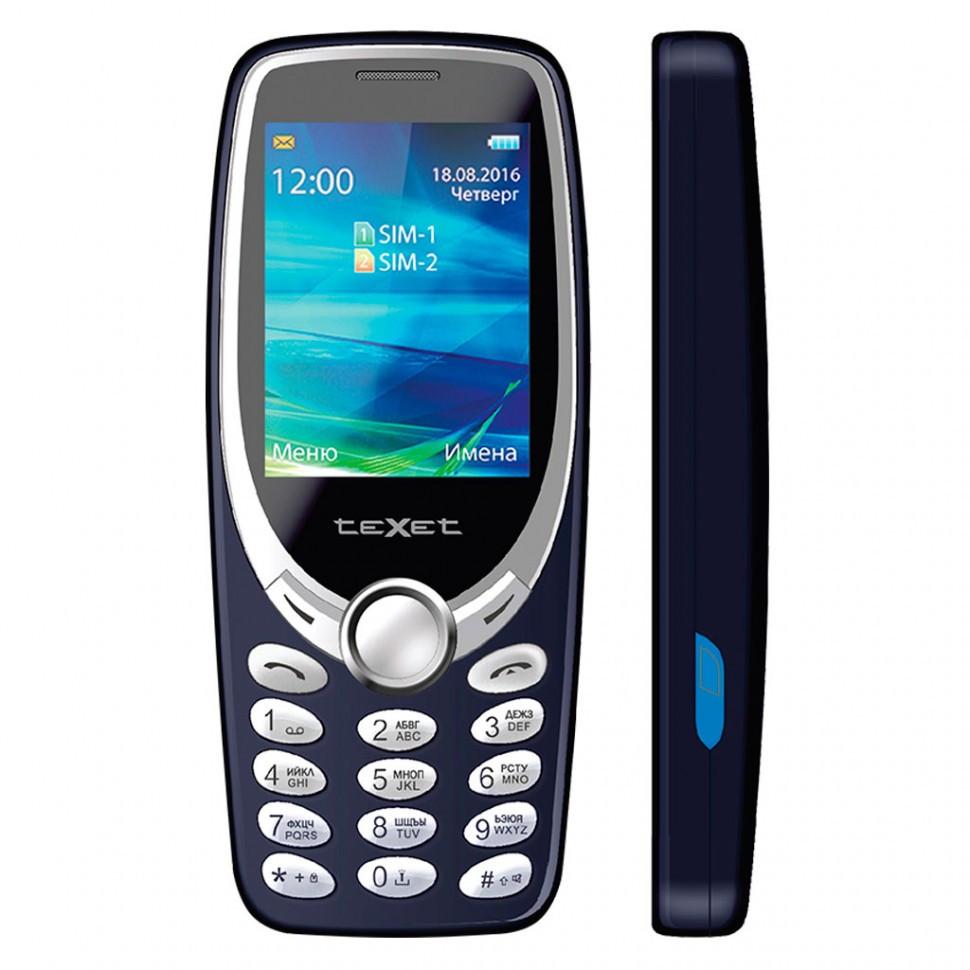 Мобильный телефон Texet TM-303 синий
