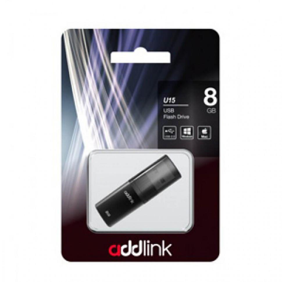 USB Флеш 8GB 2.0 Addlink ad08GBU15G2 серый