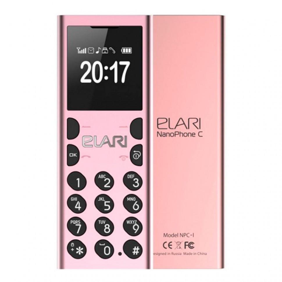 Мобильный телефон Nanophone C Elari розовый