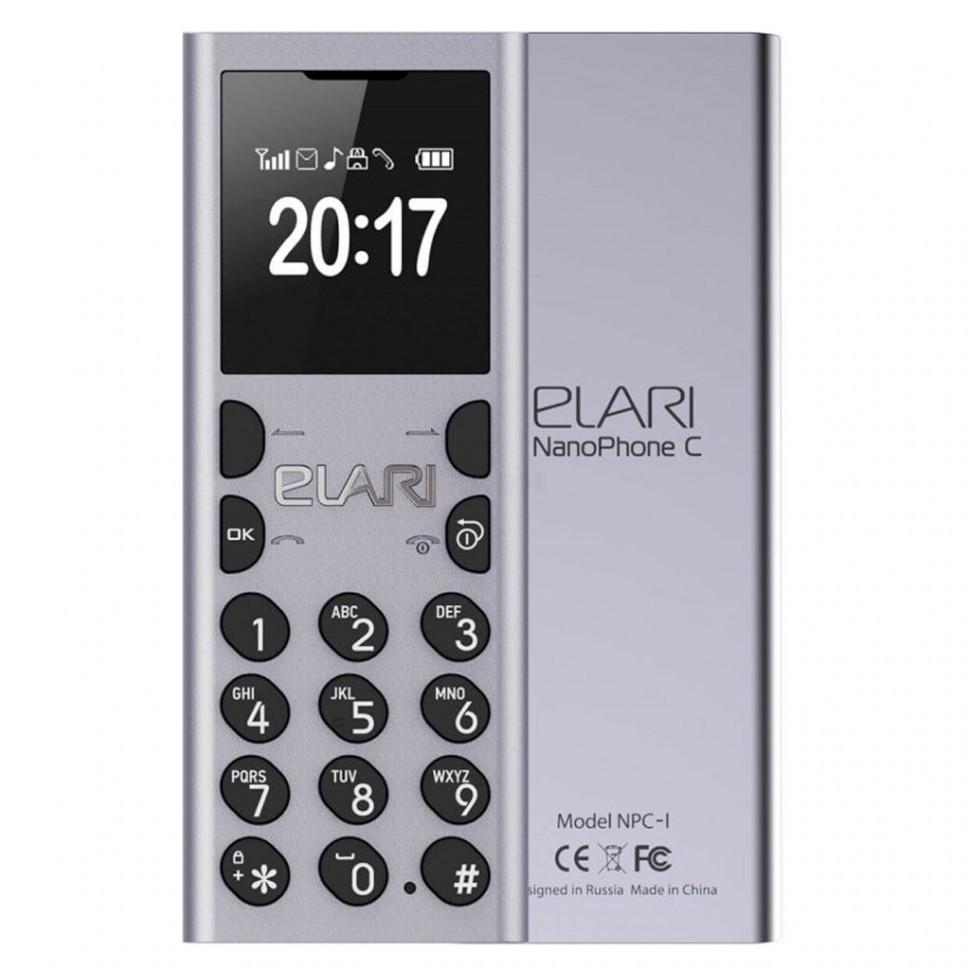 Мобильный телефон Nanophone C Elari серебро