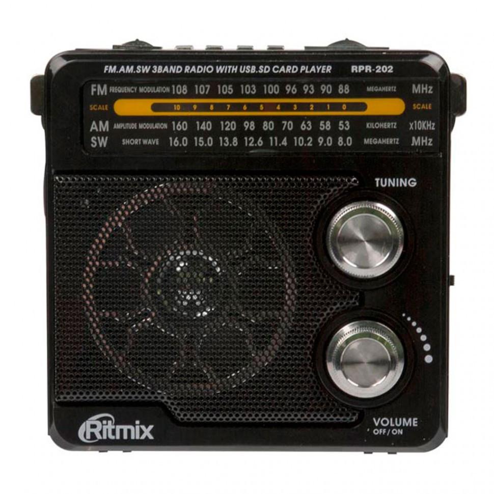 Радиоприемник портативный Ritmix RPR-202 black