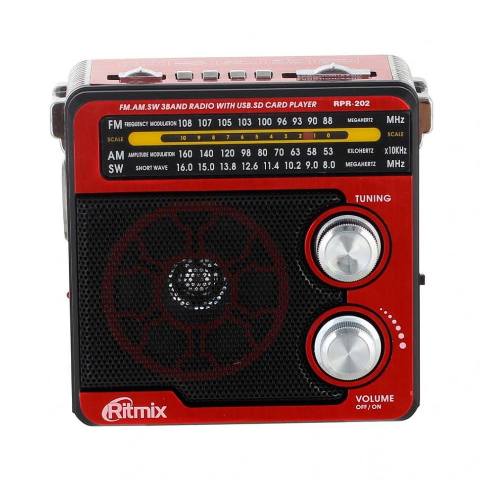 Радиоприемник портативный Ritmix RPR-202 red