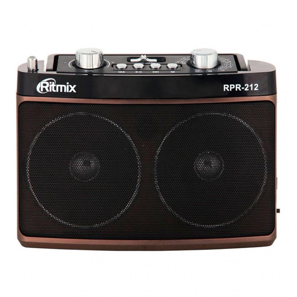 Радиоприемник портативный Ritmix RPR-212 brown