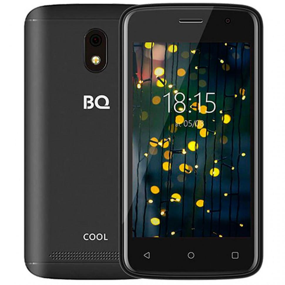 "Смартфон BQ-4001G Cool Чёрный 4""/800х480WVGA/Spreadtrum 7731E,4ядра/521Mb+16Gb/5+2MP/2800 мАч/3G"