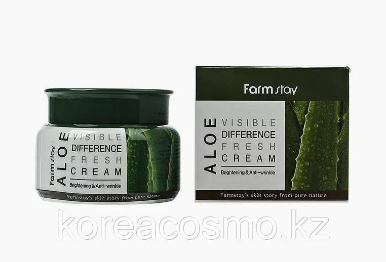 Увлажняющий крем для лица с экстрактом алоэ FarmStay Visible Difference Fresh Cream Aloe