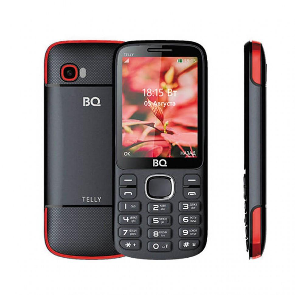 Мобильный телефон BQ-2808 TELLY, черный+красный