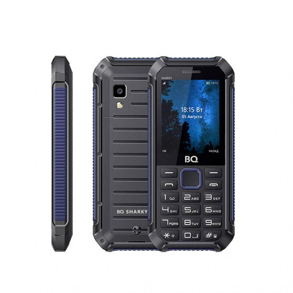 Мобильный телефон BQ-2434 Sharky черный+синий