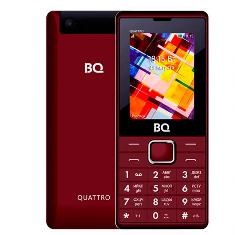 Мобильный телефон BQ-2412 Quattro Темно-Красный