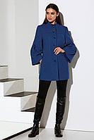 Женское осеннее драповое синее пальто Lissana 3933 лазурный 50р.