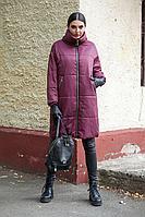 Женское зимнее красное пальто DOGGI 6280 бордо 42р.