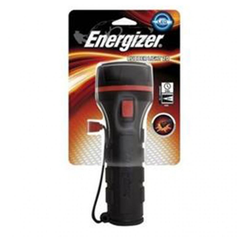 Фонарь компактный Energizer plastic 2xD tray черный (без батареек)