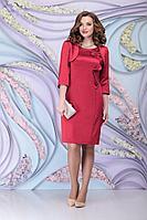 Женский осенний красный комплект с платьем Ninele 974 красный 46р.