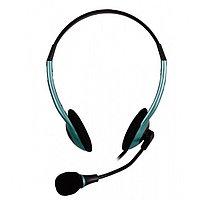 Головная гарнитура пассивная SmartBuy EZ-TALK MKII, рег.громк, кабель 2.0м, синяя (арт.SBH-5300)/40