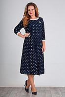 Женское осеннее шифоновое синее большого размера платье Jurimex 2310 54р.