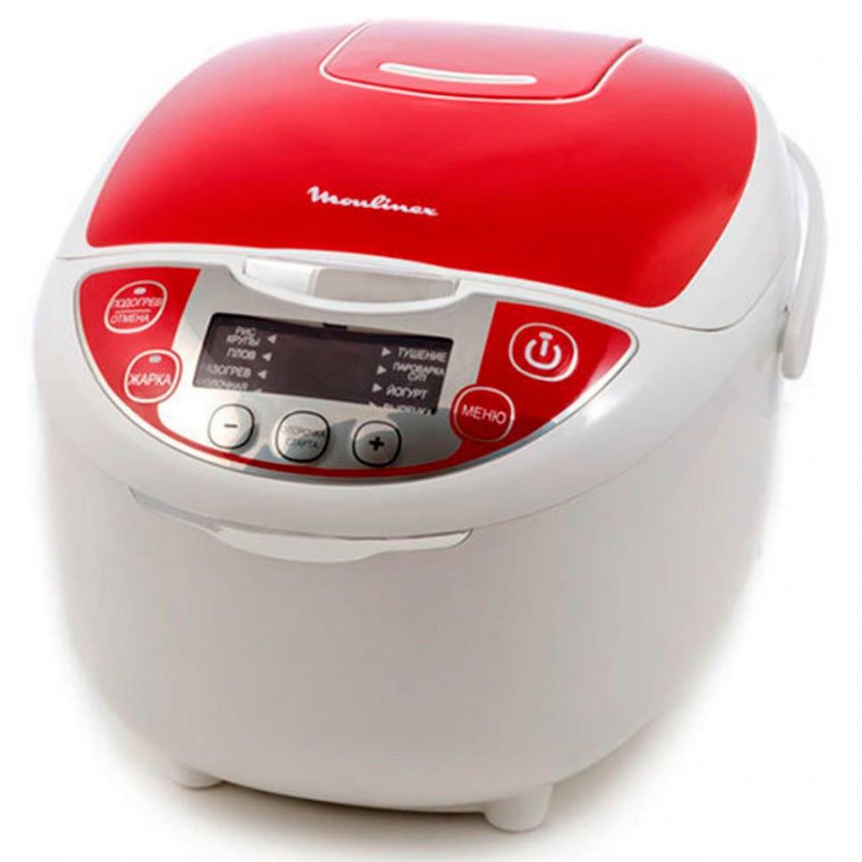 Мультиварка Moulinex MK705132 бело-красный