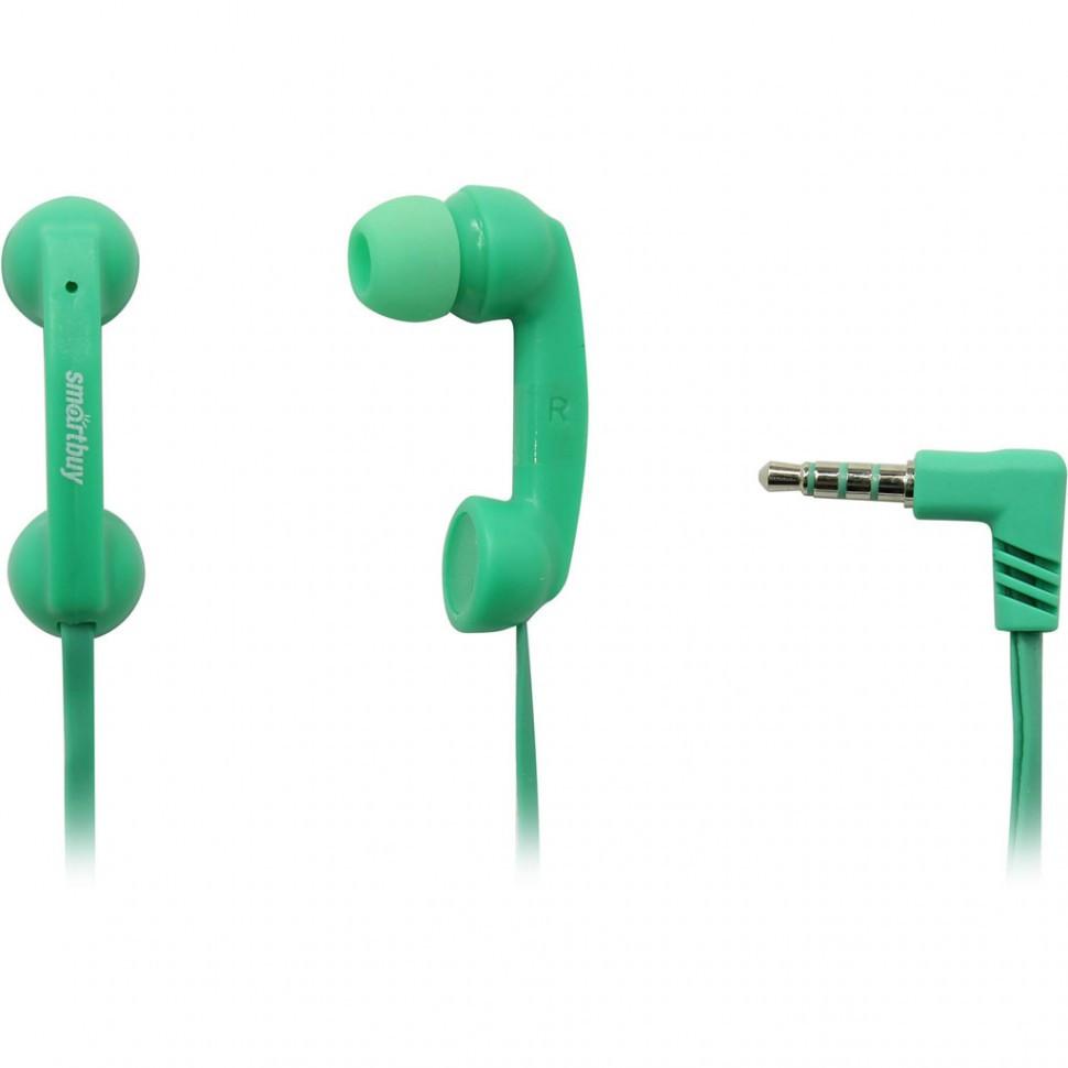 Универсальная мобильная гарнитура SmartBuy HELLO, зеленая (SBH-240)/240 - фото 1
