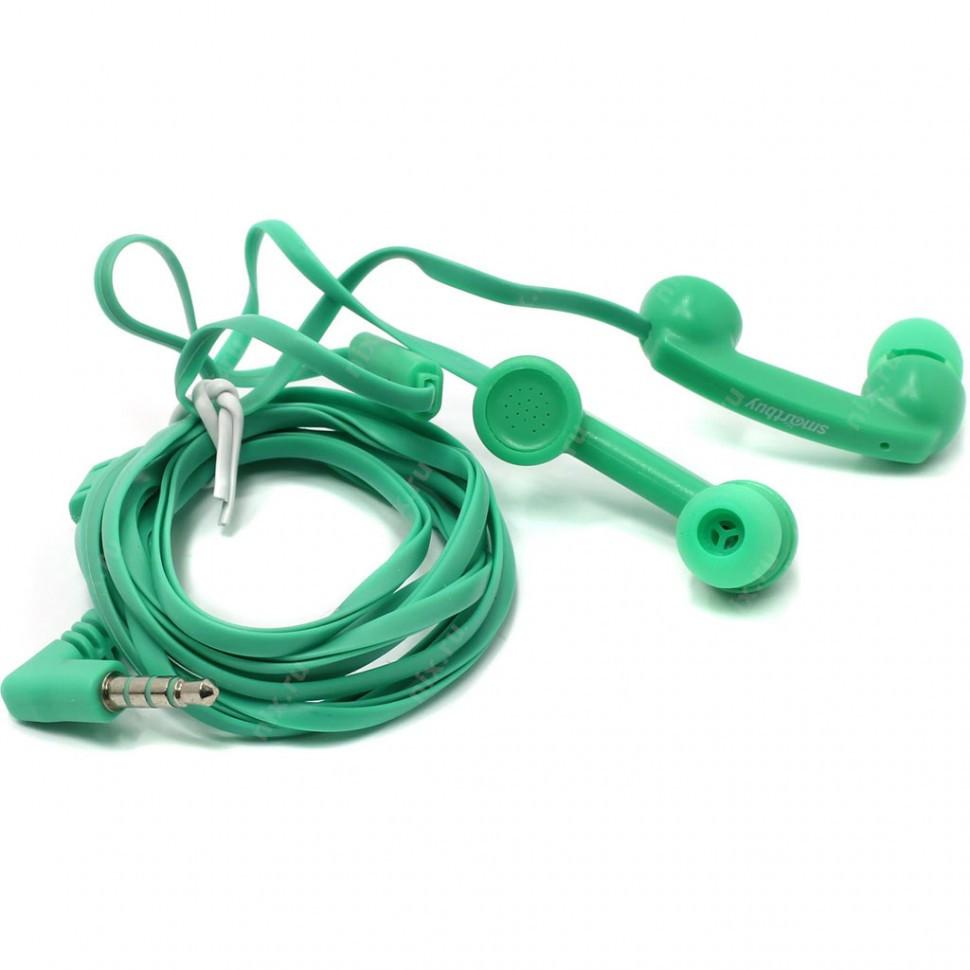 Универсальная мобильная гарнитура SmartBuy HELLO, зеленая (SBH-240)/240 - фото 2