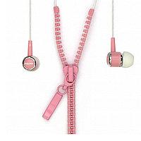 Внутриканальные стерео наушники SmartBuy® ZZIP, провод в виде молнии, розовые (арт.SBE-4600)/200/50