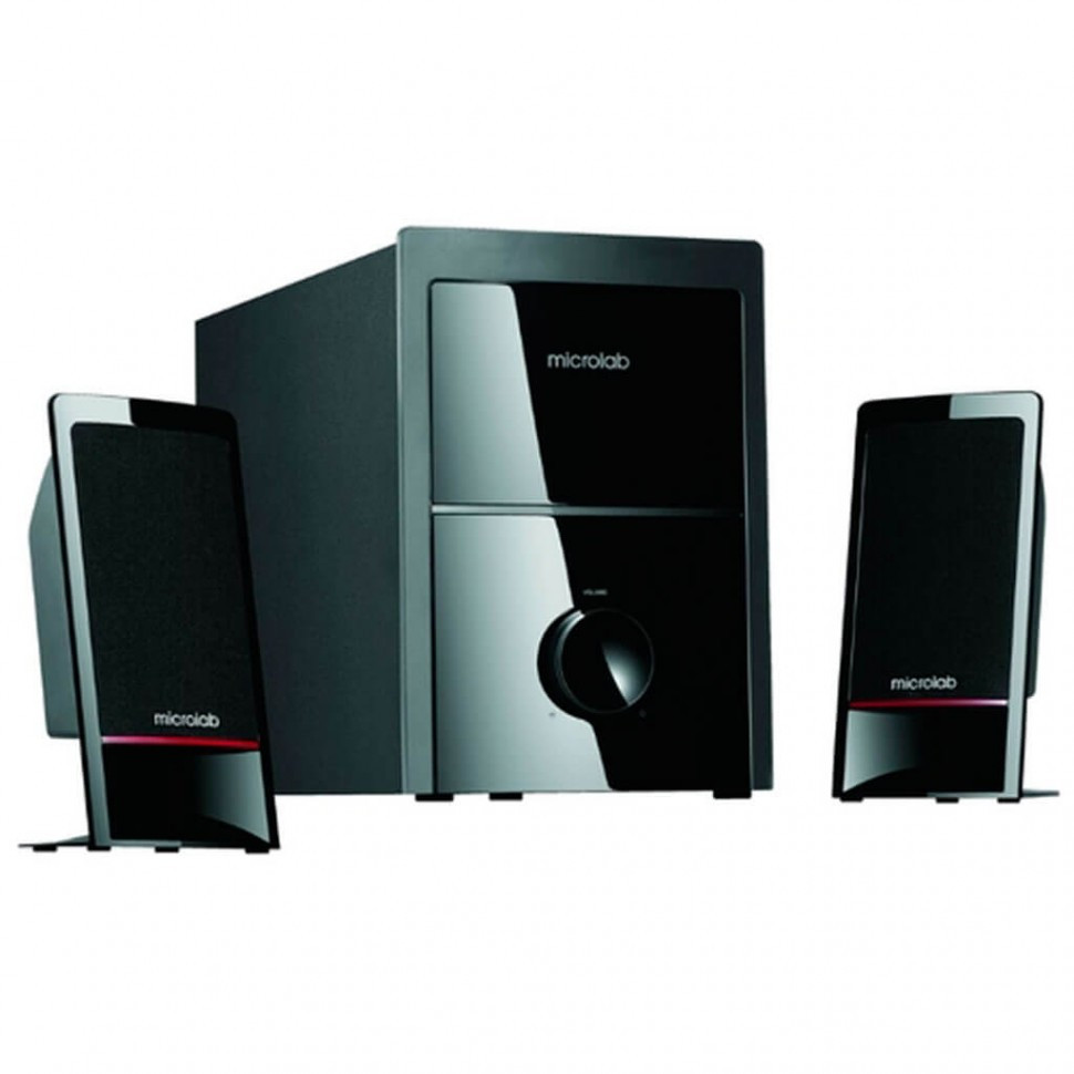 Акустическая система, Microlab, M-700, 2.1, 40Вт (12*2+16Вт), Вход 3.5 MiniJack-2RCA, Чёрный